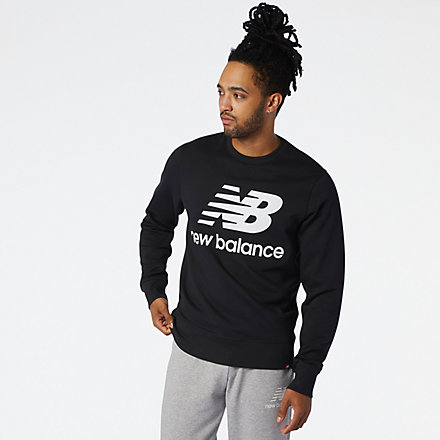 NB NB Essentials Stacked Logo Crew, MT03560BK image number null