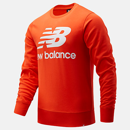 New Balance NB Essentials Stacked Logo Crew, MT03560BZ image number null