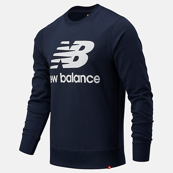 New Balance NB Essentials Stacked Logo Crew, MT03560ECL