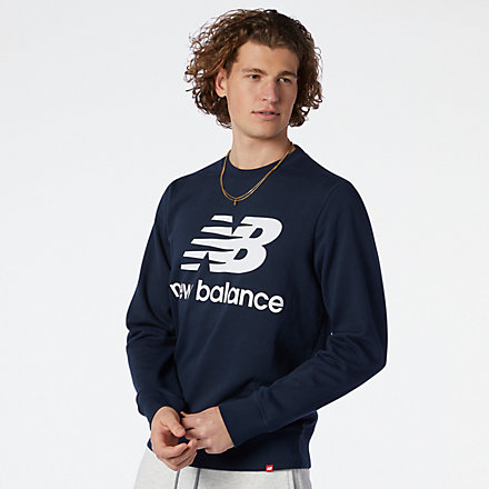 New Balance NB Essentials Stacked Logo Crew, MT03560ECL image number null