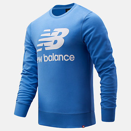 New Balance NB Essentials Stacked Logo Crew, MT03560FCB image number null
