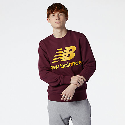 New Balance NB Essentials Stacked Logo Crew, MT03560GTH image number null