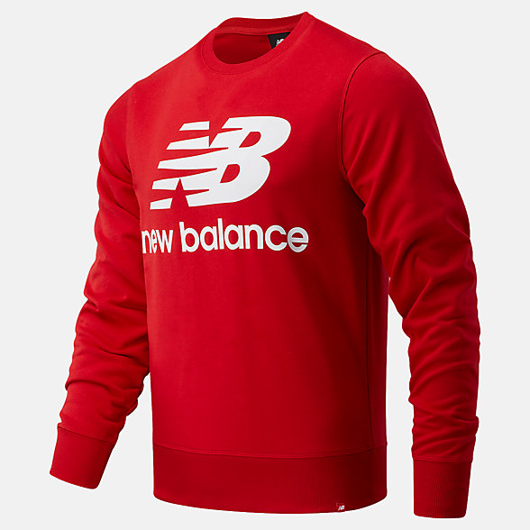 NB Top NB Essentials Stacked Logo Crew, MT03560REP