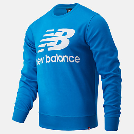NB Top NB Essentials Stacked Logo Crew, MT03560WAB image number null