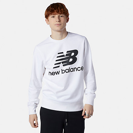 NB NB Essentials Stacked Logo Crew, MT03560WT image number null