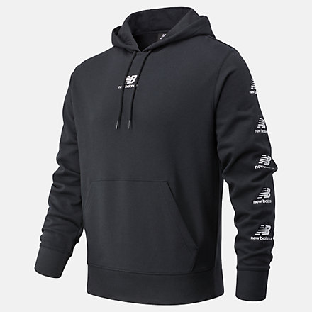 New Balance Essentials Stack Pack Hoodie, MT03562BK image number null