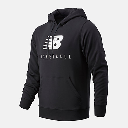 New Balance NB Basketball Blacktop Hoodie, MT03582BK image number null