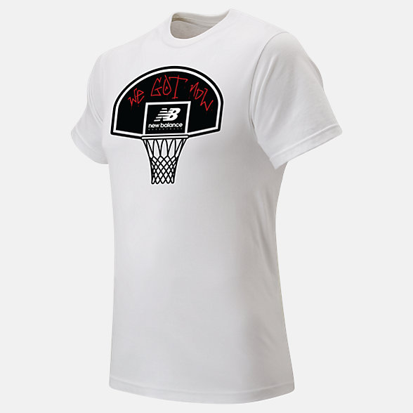 New Balance NB Basketball Blacktop Tee, MT03583WT