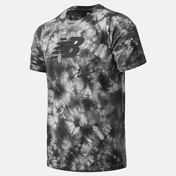 New Balance NB Basketball Blacktop Tie Dye Tee, MT03586BKM