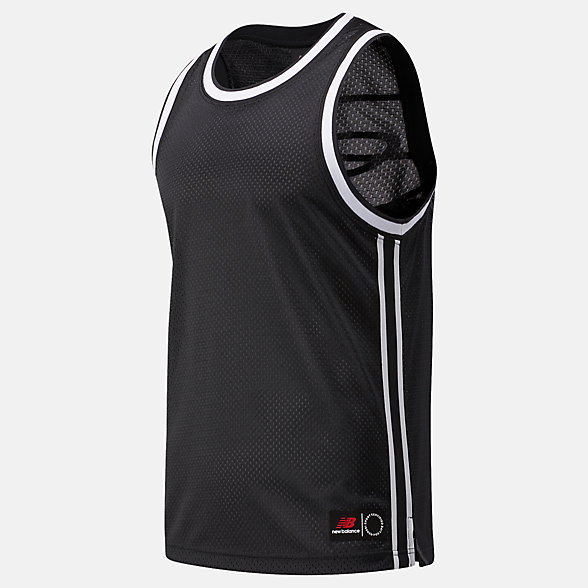 New Balance NB Basketball Blacktop Mesh Tank, MT03589BK