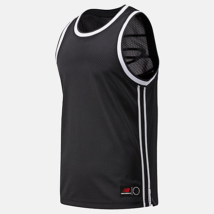 New Balance NB Basketball Blacktop Mesh Tank, MT03589BK image number null