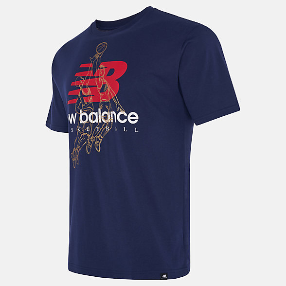New Balance NB Basketball Medal Tee, MT03591PGM