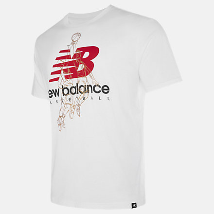 New Balance NB Basketball Medal Tee, MT03591WT image number null