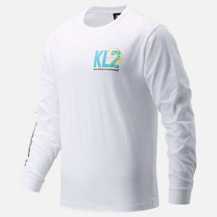 New Balance KL2 Moreno Valley LS Tee, MT03611WT image number null