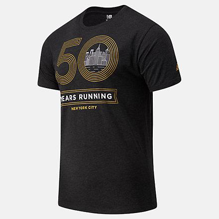 NB NYC Marathon Gold Logo Graphic T-Shirt, MT03623MBK image number null