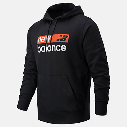 New Balance NB Classic Core Graphic FT Hoodie, MT03902BK image number null