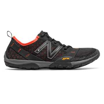 New Balance Minimus 10v1 Trail, Black with Alpha Orange