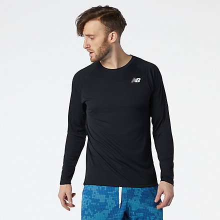 New Balance R.W.T. Tech Long Sleeve, MT11054BK image number null