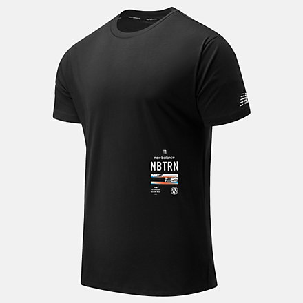 New Balance R.W.T. Graphic Heathertech Tee, MT11062BM image number null
