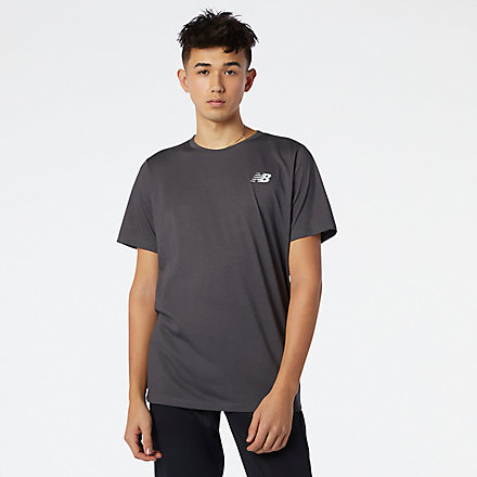 New Balance Heathertech Tee, MT11070BKH image number null