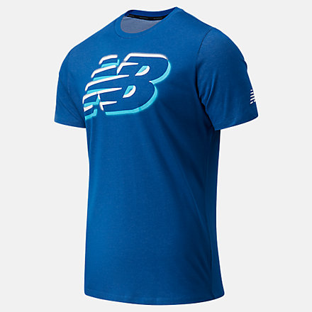NB Graphic Heathertech Tee, MT11071CNB image number null