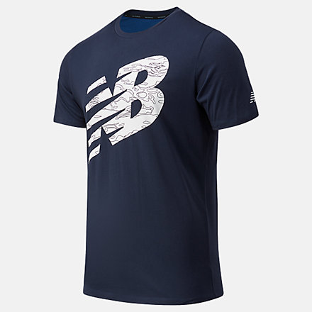 New Balance Graphic Heathertech Tee, MT11071ECL image number null