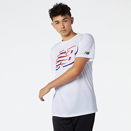 NB Graphic Heathertech Tee, MT11071WT image number null
