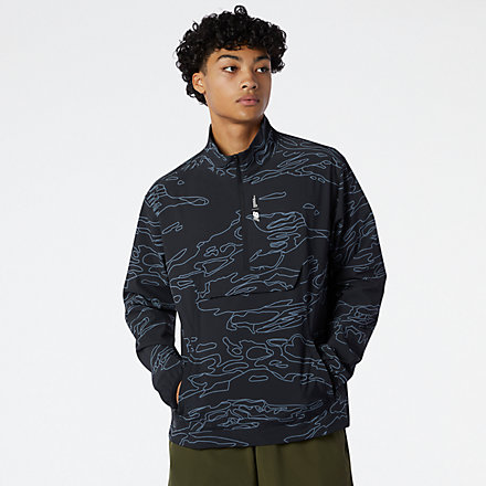 New Balance Fortitech Printed Woven Pullover, MT11179BPT image number null