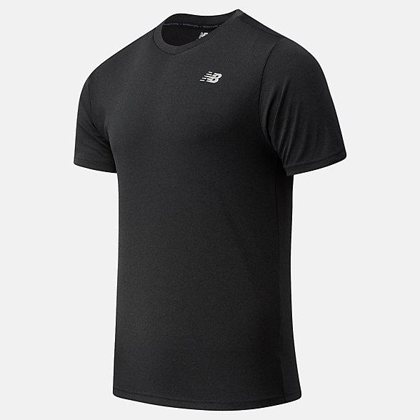 New Balance 男款冰感运动短袖T恤, MT11207BKH