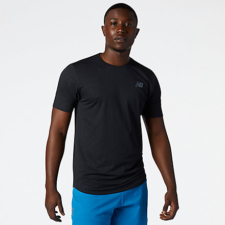 NB Q Speed Fuel Short Sleeve, MT11278BK image number null