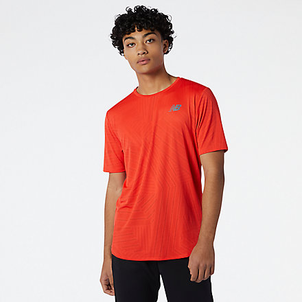 New Balance Q Speed Fuel Short Sleeve, MT11278GHP image number null