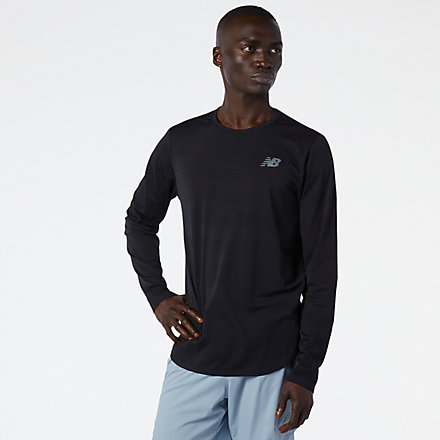 NB Q Speed Fuel Long Sleeve, MT11286BK image number null