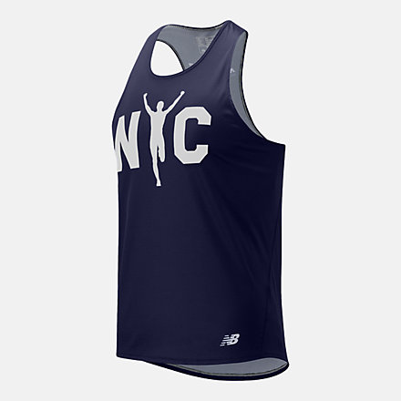 New Balance Boroughs Singlet NYC, MT11298QPGM image number null