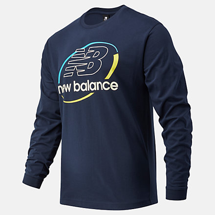 NB NB Athletics Circular Stack Longsleeve Tee, MT11502ECL image number null