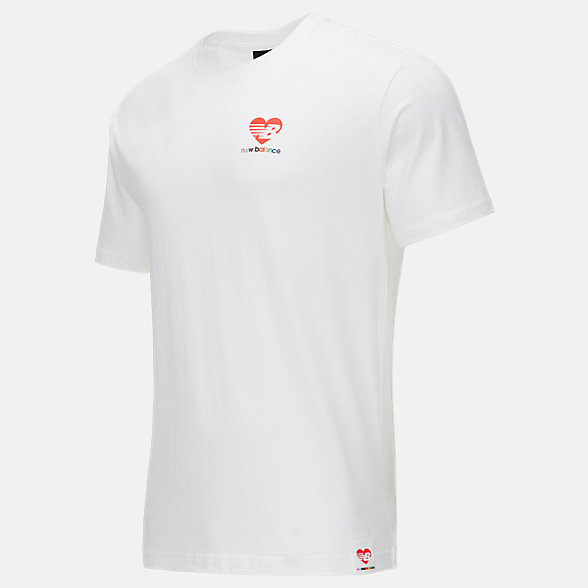 New Balance Pride系列男女同款短袖T恤, MT11505WT
