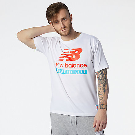 New Balance NB Essentials Logo Tee, MT11517WT image number null
