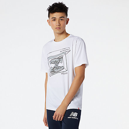 NB NB Essentials Shoebox Tee, MT11542WT image number null