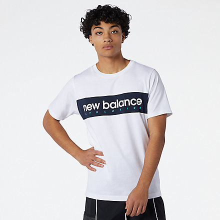 New Balance NB Athletics Linear NB Tee, MT11548WT image number null