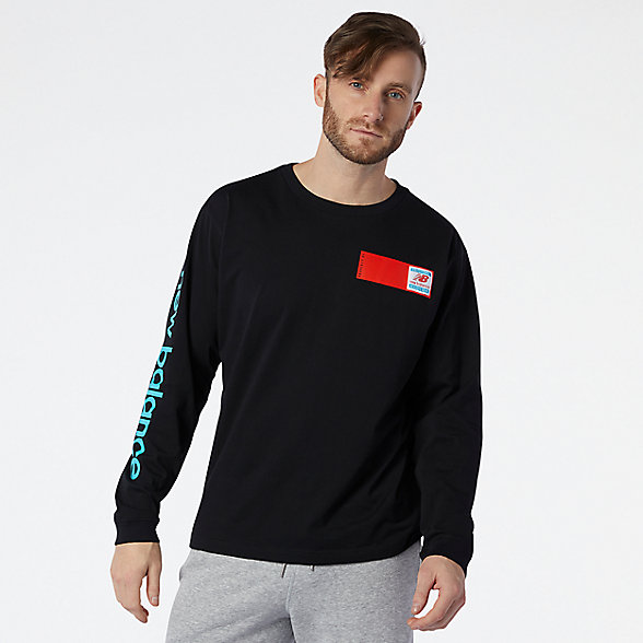 NB NB Essentials Field Day Long Sleeve Tee, MT11549BK