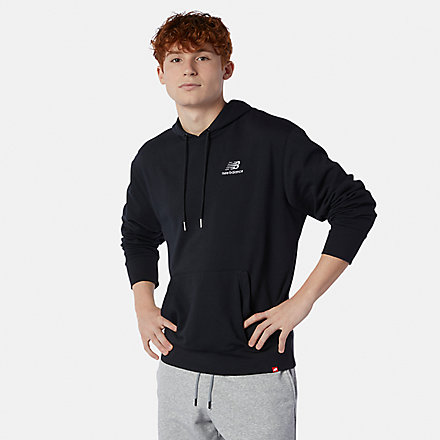 New Balance Master NB Essentials Embroidered Hoodie, MT11550BK image number null