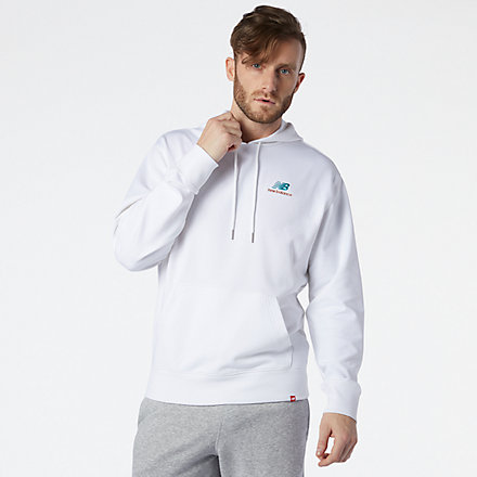 New Balance Master NB Essentials Embroidered Hoodie, MT11550WT image number null