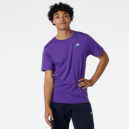 NB NB Essentials Embroidered Tee, MT11592PRP image number null