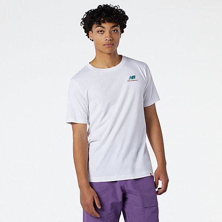 NB NB Essentials Embroidered Tee, MT11592WT image number null