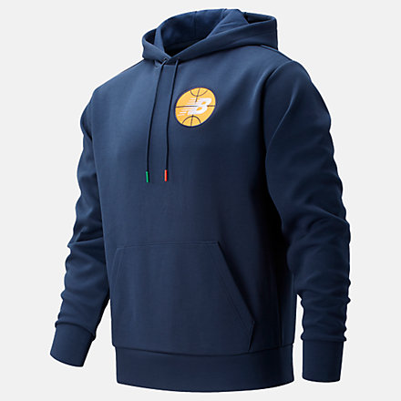 New Balance NB Basketball Colorized Court Hoodie, MT11594NGO image number null