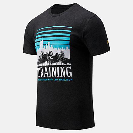 New Balance NYC Marathon Training Graphic Short Sleeve, MT11601MBK image number null