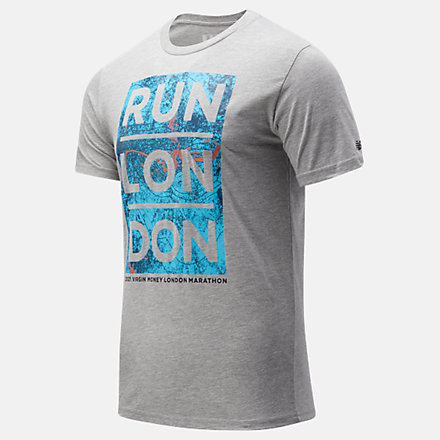 NB London Edition Map Graphic Tee, MT11604DAG image number null