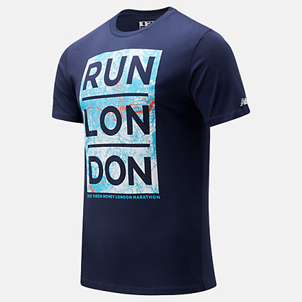 NB London Edition Map Graphic Tee, MT11604DPGM image number null