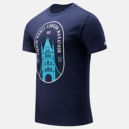 NB T-Shirt London Edition Tower Bridge Graphic, MT11605DPGM image number null