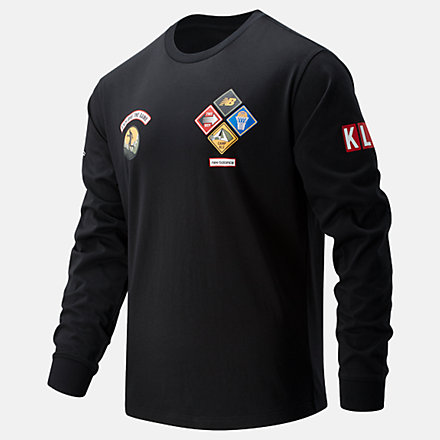 New Balance KL2 Nature of the Game Long Sleeve Graphic, MT11610BK image number null