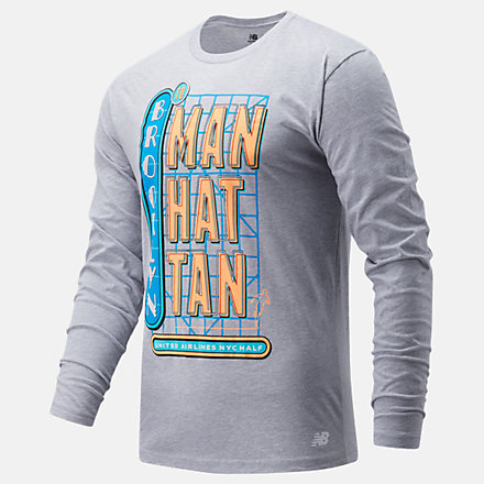 New Balance United Airlines NYC Half Neon Sign Long Sleeve, MT11621CAG image number null